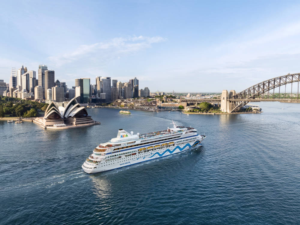 AIDA Aura auf Weltreise - Bildquelle: AIDA Cruises