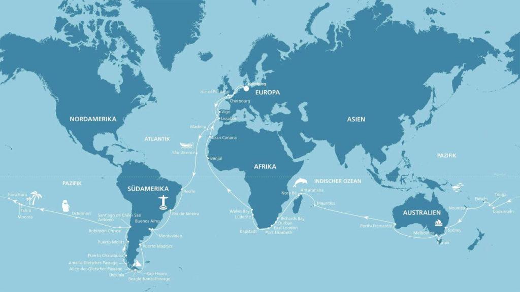AIDAaura Weltreise 2020 2021 - Bildquelle: AIDA Cruises