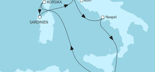Mittelmeer mit Italien Sommer 2019 - Bildquelle: TUI Cruises