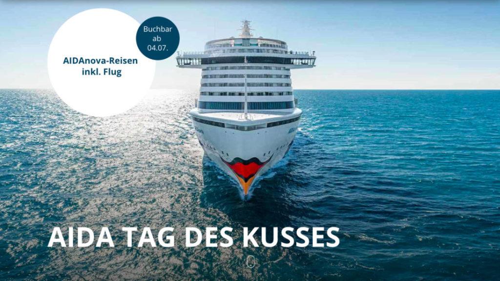AIDA Tag des Kusses - Bildquelle: AIDA Cruises