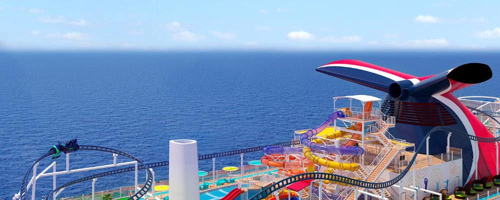 Achterbahn auf der Mardi Grad - Bildquelle: Carnival Cruise Line