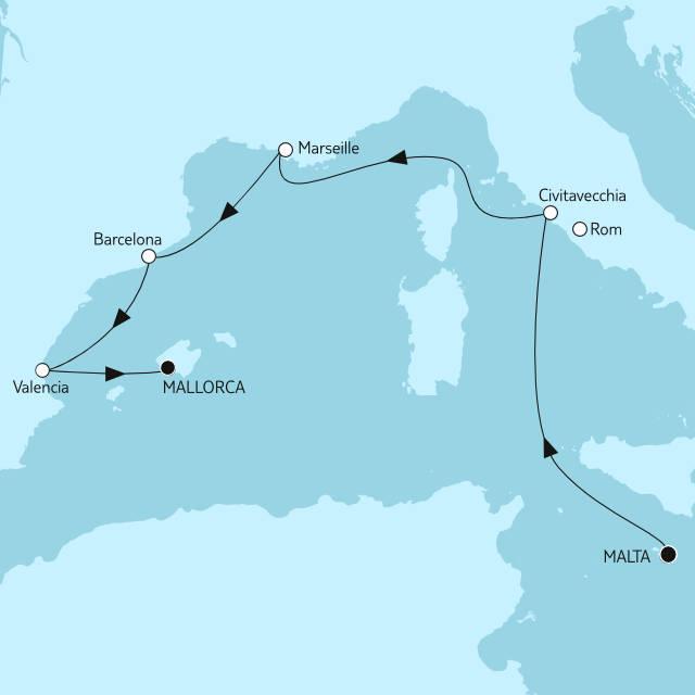 Malta bis Mallorca - TUI Cruises Auktion - Bildquelle: TUI Cruises