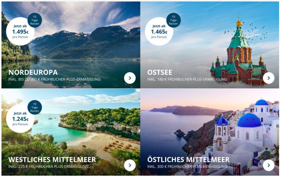 AIDA Frühbucher Angebote Sommer 2020