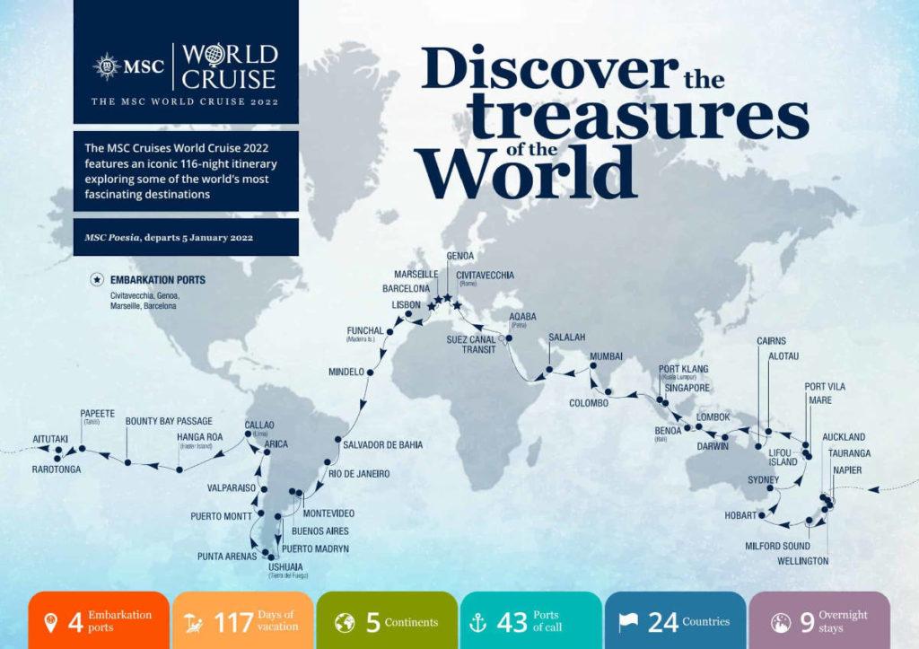 MSC Weltreise 2022 - Bildquelle: MSC Cruises