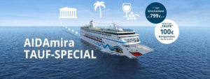 AIDAmira Taufspecial und Livestream - Bildquelle. AIDA Cruises