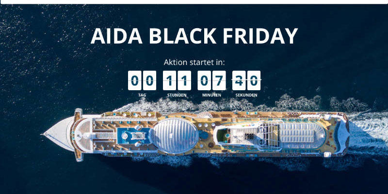 Black Friday Sale bei AIDA Cruises - Bildquelle: AIDA Cruises