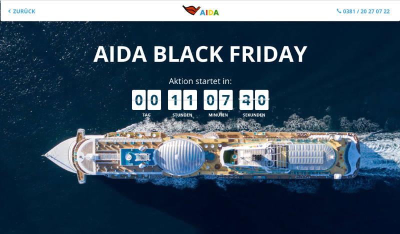 Black Friday Sale bei AIDA Cruises  - Bildquelle: AIDA Cruises
