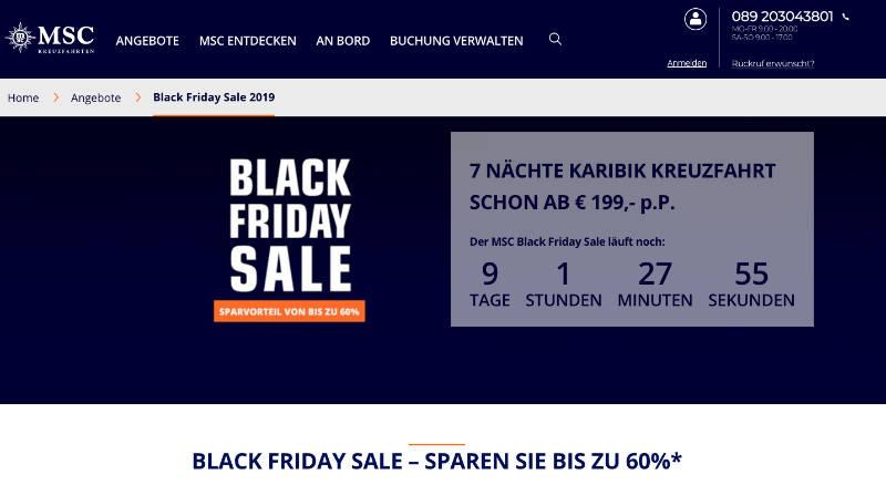 Black Friday Sale bei MSC Kreuzfahrten - Bildquelle: MSC Kreuzfahrten