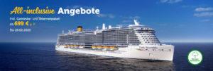 Costa Kreuzfahrten Jahresauftakt 2020