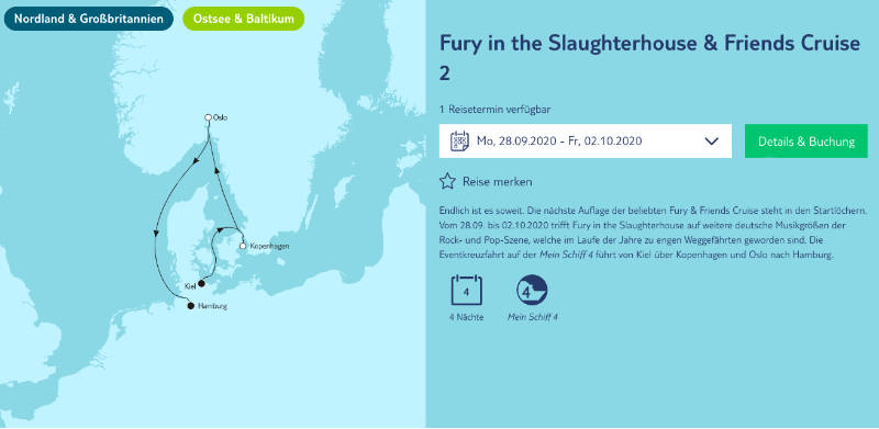 Fury in the Slaughterhouse & Friends Cruise 2 - Bildquelle: TUI Cruises