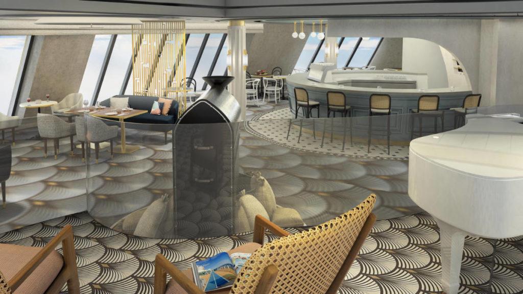 Mein Schiff 4 - Umbau 2020 Cafe Lounge - Bildquelle. TUI Cruises