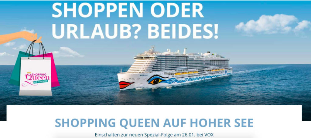 AIDAnova Shopping-Queen - Bildquelle. AIDA Cruises