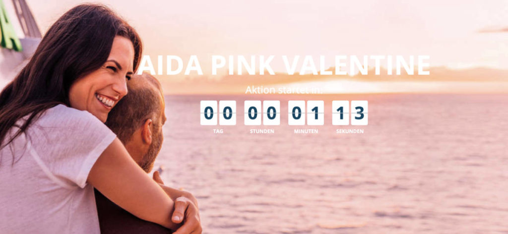 AIDA Pink Valentine Angebote  - Bildquelle: AIDA Cruises