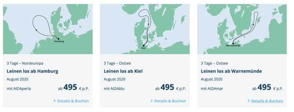 AIDA Cruises: August 2020 - Bildquelle. AIDA Cruises