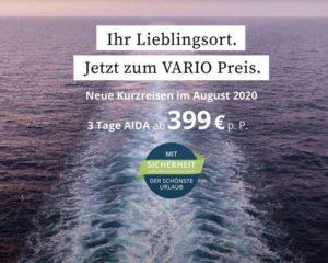 AIDA Kurzreisen: Vario Tarife sind buchbar - Bildquelle: AIDA Cruises