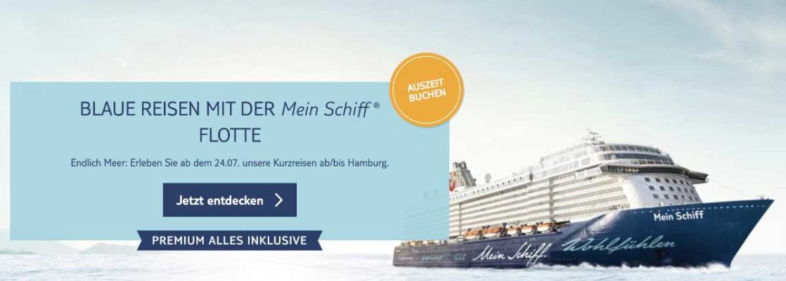 Mein Schiff Blaue Reisen - Bildquelle. TUI Cruises