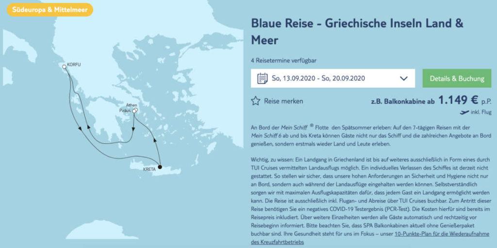 Blaue Reisen Griechenland - Bildquelle: TUI Cruises