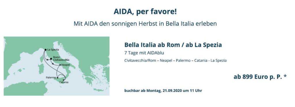 AIDA Cruises neustart Oktober 2020 - Bildquelle: AIDA Cruises