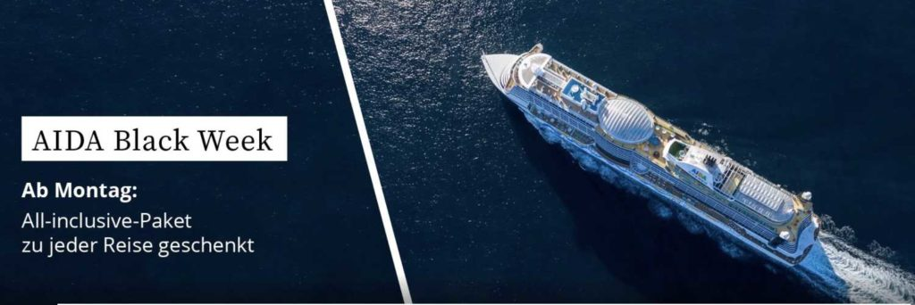 AIDA Black Week 2020 - Bildquelle: AIDA Cruises
