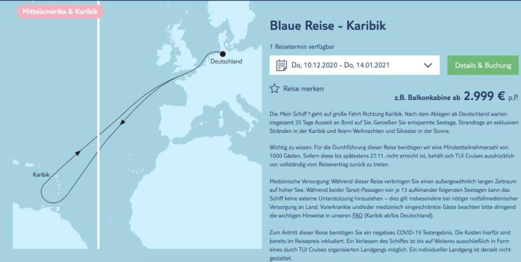 Blaue Reise Karibik - Bildquelle. TUI Cruises