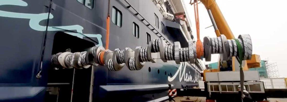 Mein Schiff 6: Austausch der Kurbelwelle - Bildquelle: TUI Cruises