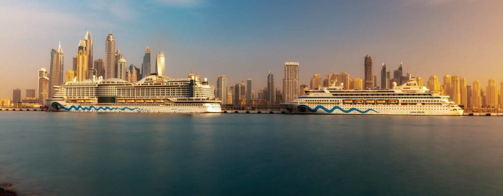 Dubai Cruise Terminal: AIDAprima AIDAvita - Bildquelle: AIDA Cruises / Shadow PP