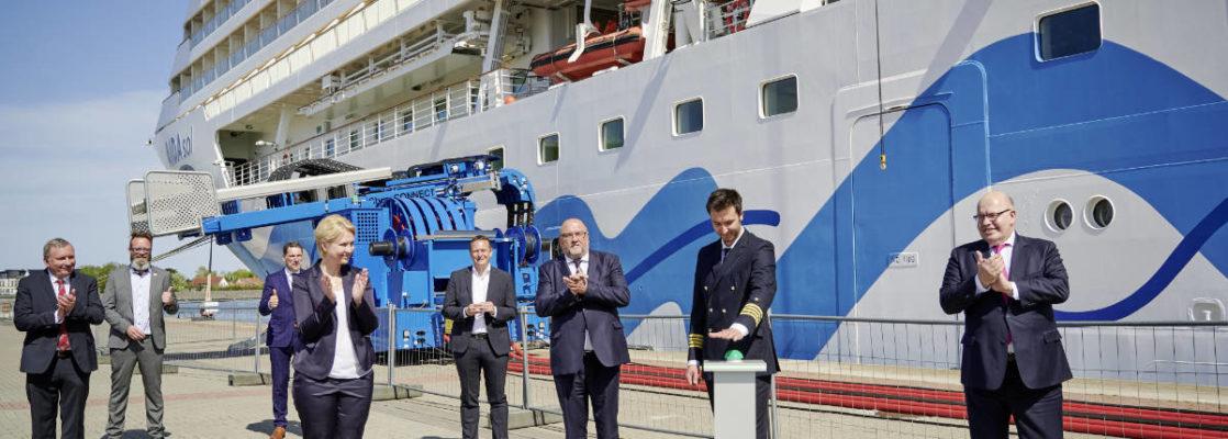 AIDAsol eröffnet Landstromanlage in Rostock-Warnemünde - Bildquelle: rostock port/ nordlicht
