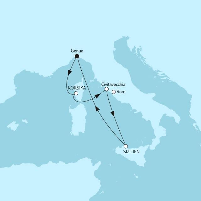 Blaue Reise Italienische Küste mit der Mein Schiff 4