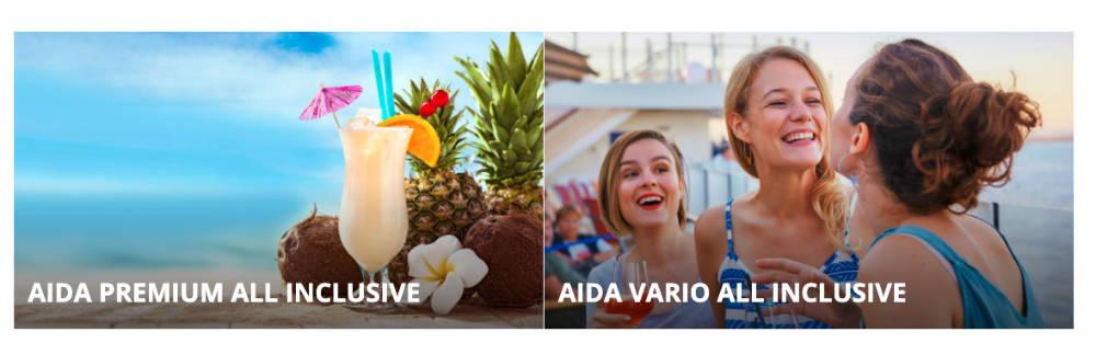 Neuer Tarif: AIDA Vario All inclusive