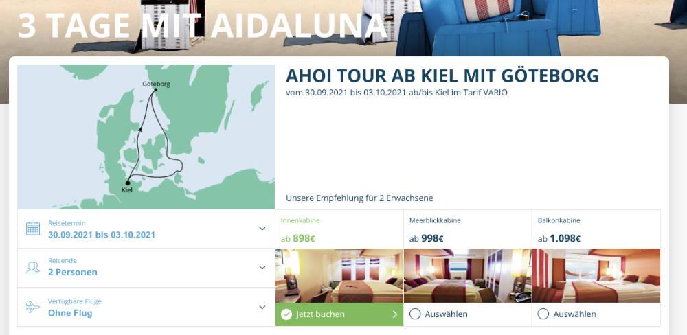 AIDAluna fährt nach Göteborg und Gydnia nach Polen - Bildquelle: AIDA Cruises
