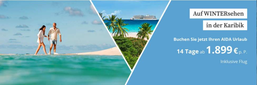 AIDA Wintersehen - Wintersaison 2021/2022 in der Karibik und Orient